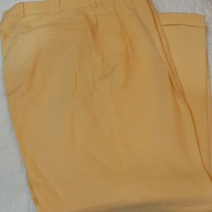 Brooks Brothers yellow pleated dress pants